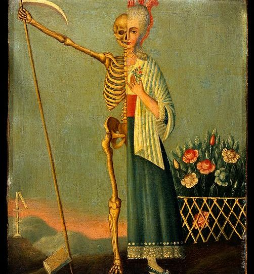 Life_and_death._Oil_painting._Wellcome_V0017612