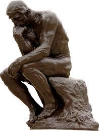 Mann som reflekterer, tenker, grubler, og bekymrer seg over meningsløshet